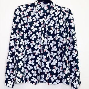 Jonquil Vintage Pussybow Floral Buttondown blouse